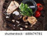 italian and mediterranean food... | Shutterstock . vector #688674781