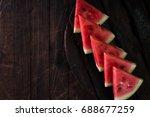 watermelon and watermelon... | Shutterstock . vector #688677259