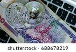 bitcoin on nigerian naira... | Shutterstock . vector #688678219