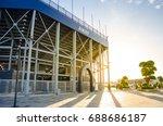 Steel structure of football stadium