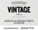 font. alphabet. script.... | Shutterstock .eps vector #688687534