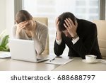 tired frustrated business... | Shutterstock . vector #688688797