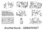 hospital scene man and woman... | Shutterstock .eps vector #688694407