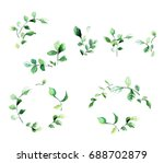 decorative floral frames with... | Shutterstock .eps vector #688702879