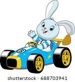 vector illustration of a funny... | Shutterstock .eps vector #688703941