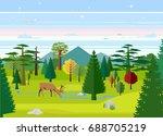 flat vector illustration of... | Shutterstock .eps vector #688705219