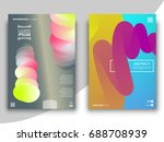 set of colorful geometric... | Shutterstock .eps vector #688708939