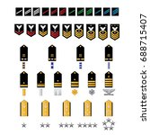 naval style military rank set... | Shutterstock .eps vector #688715407