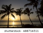 tropical sunset. barbados  in... | Shutterstock . vector #688716511