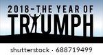 triumph 2018 new year... | Shutterstock .eps vector #688719499