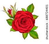 flower composition. a bud of a... | Shutterstock . vector #688724401