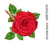 flower composition. a bud of a... | Shutterstock . vector #688724419