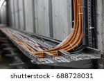 fiber optic network cables.... | Shutterstock . vector #688728031