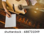 soft and blur focus.song writer ...   Shutterstock . vector #688731049