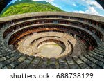 aerial view of fujian tulou ... | Shutterstock . vector #688738129