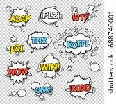 thx  asap  plz  wtf  lol  rotfl ...   Shutterstock .eps vector #688740001