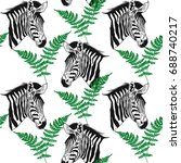 seamless pattern with african... | Shutterstock .eps vector #688740217