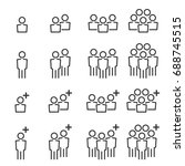 people icons line  work  group... | Shutterstock .eps vector #688745515