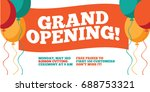grand opening flyer  marketing... | Shutterstock . vector #688753321