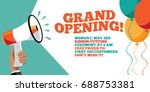 grand opening flyer  marketing... | Shutterstock .eps vector #688753381