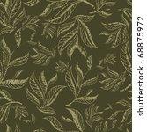 raster seamless green floral... | Shutterstock . vector #68875972