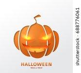 halloween greeting card design. ... | Shutterstock .eps vector #688776061