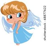 cute shy flying angel | Shutterstock . vector #68877622