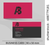 creative business card template.... | Shutterstock .eps vector #688779181