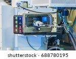 scientist in a laboratory works ... | Shutterstock . vector #688780195