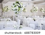 elegant wedding reception table ...   Shutterstock . vector #688783009