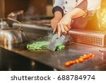 japanese food counter japanese... | Shutterstock . vector #688784974