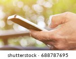 close up image of mobile device ... | Shutterstock . vector #688787695