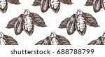 hand drawn seamless pattern... | Shutterstock .eps vector #688788799