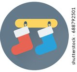 stocking vector icon  | Shutterstock .eps vector #688792501