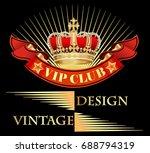 illustration vintage background ... | Shutterstock . vector #688794319