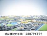 3d map of city with navigator... | Shutterstock . vector #688796599