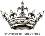 graphic black and white king... | Shutterstock .eps vector #688797859