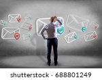 view of a businessman in front... | Shutterstock . vector #688801249