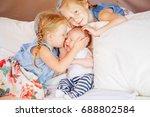 lifestyle portrait of cute... | Shutterstock . vector #688802584