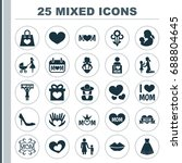 mothers day icon design concept.... | Shutterstock .eps vector #688804645
