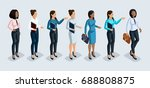 isometry set of business women. ... | Shutterstock .eps vector #688808875