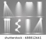 vector light sources  concert...   Shutterstock .eps vector #688812661
