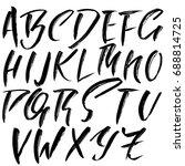 hand drawn dry brush font.... | Shutterstock .eps vector #688814725
