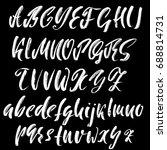 hand drawn dry brush font.... | Shutterstock .eps vector #688814731