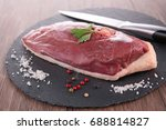 raw duck breast | Shutterstock . vector #688814827