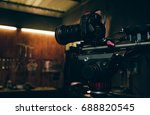 camera dslr is shooting with...   Shutterstock . vector #688820545
