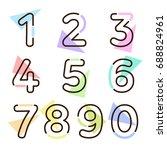 element  set of ten numbers... | Shutterstock .eps vector #688824961