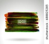 brush stroke and texture.... | Shutterstock .eps vector #688825285