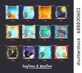weather and daytime outside the ... | Shutterstock .eps vector #688830601