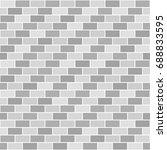 striped gray brick wall pattern....   Shutterstock .eps vector #688833595